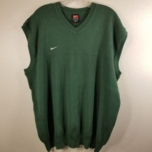 Mens Nike Sz XL green sweater vest